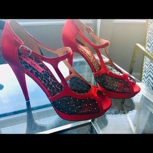 Betsey Johnson Red Statement Heels